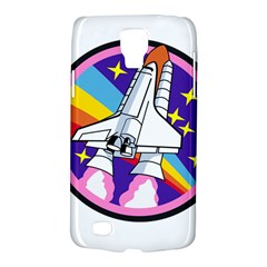 Badge Patch Pink Rainbow Rocket Galaxy S4 Active by Amaryn4rt