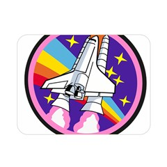 Badge Patch Pink Rainbow Rocket Double Sided Flano Blanket (mini)  by Amaryn4rt