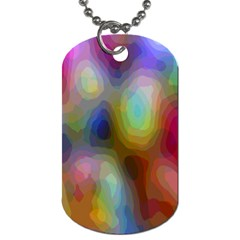 A Mix Of Colors In An Abstract Blend For A Background Dog Tag (two Sides) by Amaryn4rt