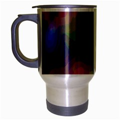 A Mix Of Colors In An Abstract Blend For A Background Travel Mug (silver Gray) by Amaryn4rt