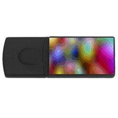 A Mix Of Colors In An Abstract Blend For A Background Usb Flash Drive Rectangular (4 Gb) by Amaryn4rt