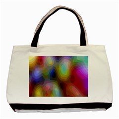 A Mix Of Colors In An Abstract Blend For A Background Basic Tote Bag by Amaryn4rt