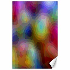 A Mix Of Colors In An Abstract Blend For A Background Canvas 24  X 36  by Amaryn4rt