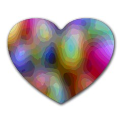 A Mix Of Colors In An Abstract Blend For A Background Heart Mousepads by Amaryn4rt