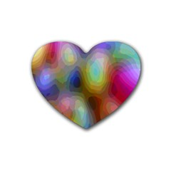 A Mix Of Colors In An Abstract Blend For A Background Heart Coaster (4 Pack)  by Amaryn4rt