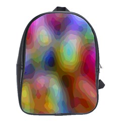 A Mix Of Colors In An Abstract Blend For A Background School Bags(large)  by Amaryn4rt