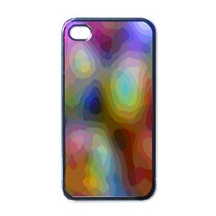A Mix Of Colors In An Abstract Blend For A Background Apple Iphone 4 Case (black) by Amaryn4rt