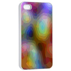 A Mix Of Colors In An Abstract Blend For A Background Apple Iphone 4/4s Seamless Case (white) by Amaryn4rt