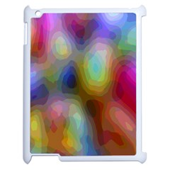 A Mix Of Colors In An Abstract Blend For A Background Apple Ipad 2 Case (white) by Amaryn4rt