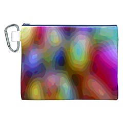 A Mix Of Colors In An Abstract Blend For A Background Canvas Cosmetic Bag (xxl) by Amaryn4rt