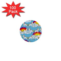 Rainbow Pony  1  Mini Buttons (100 Pack)  by Valentinaart