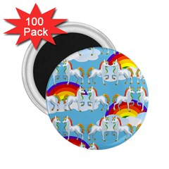 Rainbow Pony  2 25  Magnets (100 Pack)  by Valentinaart