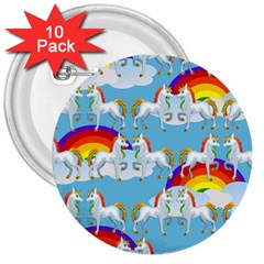 Rainbow Pony  3  Buttons (10 Pack)  by Valentinaart