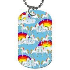 Rainbow Pony  Dog Tag (two Sides) by Valentinaart