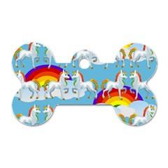 Rainbow Pony  Dog Tag Bone (one Side) by Valentinaart