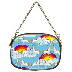 Rainbow Pony  Chain Purses (one Side)  by Valentinaart