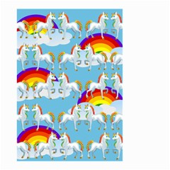 Rainbow Pony  Small Garden Flag (two Sides) by Valentinaart