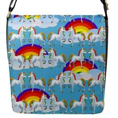 Rainbow Pony  Flap Messenger Bag (s) by Valentinaart