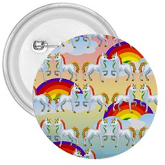 Rainbow Pony  3  Buttons by Valentinaart