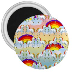 Rainbow Pony  3  Magnets by Valentinaart