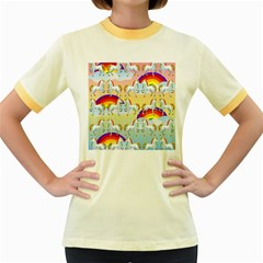 Rainbow Pony  Women s Fitted Ringer T Shirts by Valentinaart