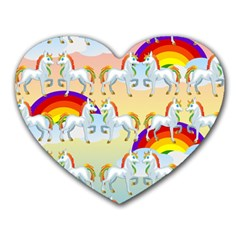 Rainbow Pony  Heart Mousepads by Valentinaart