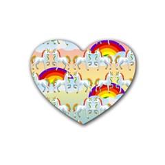 Rainbow Pony  Heart Coaster (4 Pack)  by Valentinaart