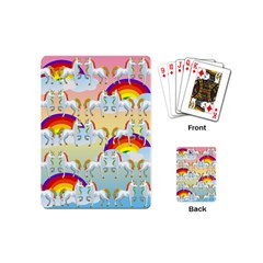 Rainbow Pony  Playing Cards (mini)  by Valentinaart