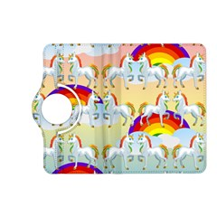 Rainbow Pony  Kindle Fire Hd (2013) Flip 360 Case by Valentinaart