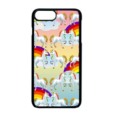 Rainbow Pony  Apple Iphone 7 Plus Seamless Case (black) by Valentinaart