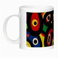 A Seamless Crazy Face Doodle Pattern Night Luminous Mugs by Amaryn4rt