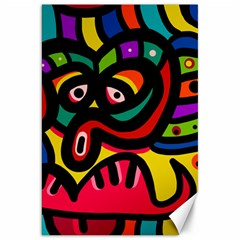 A Seamless Crazy Face Doodle Pattern Canvas 20  X 30   by Amaryn4rt