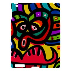 A Seamless Crazy Face Doodle Pattern Apple Ipad 3/4 Hardshell Case by Amaryn4rt