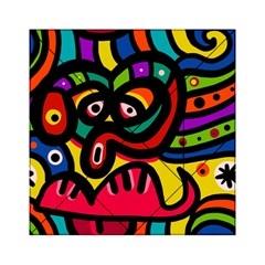 A Seamless Crazy Face Doodle Pattern Acrylic Tangram Puzzle (6  X 6 ) by Amaryn4rt