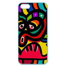A Seamless Crazy Face Doodle Pattern Apple Seamless Iphone 5 Case (color) by Amaryn4rt