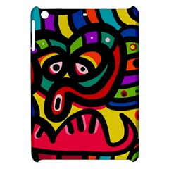 A Seamless Crazy Face Doodle Pattern Apple Ipad Mini Hardshell Case by Amaryn4rt