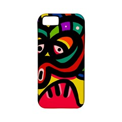 A Seamless Crazy Face Doodle Pattern Apple Iphone 5 Classic Hardshell Case (pc+silicone) by Amaryn4rt