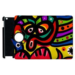 A Seamless Crazy Face Doodle Pattern Apple Ipad 3/4 Flip 360 Case by Amaryn4rt