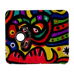 A Seamless Crazy Face Doodle Pattern Galaxy S3 (flip/folio) by Amaryn4rt