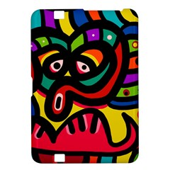 A Seamless Crazy Face Doodle Pattern Kindle Fire Hd 8 9  by Amaryn4rt