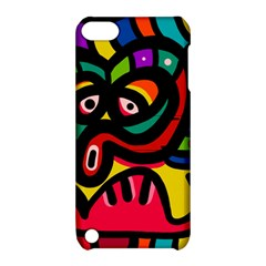 A Seamless Crazy Face Doodle Pattern Apple Ipod Touch 5 Hardshell Case With Stand by Amaryn4rt