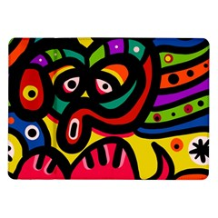 A Seamless Crazy Face Doodle Pattern Samsung Galaxy Tab 10 1  P7500 Flip Case by Amaryn4rt