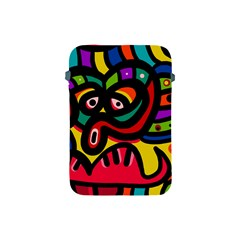 A Seamless Crazy Face Doodle Pattern Apple Ipad Mini Protective Soft Cases by Amaryn4rt