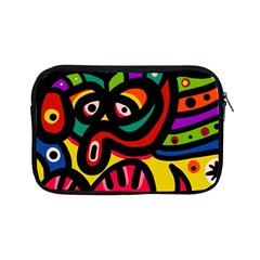 A Seamless Crazy Face Doodle Pattern Apple Ipad Mini Zipper Cases by Amaryn4rt
