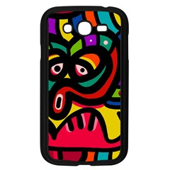 A Seamless Crazy Face Doodle Pattern Samsung Galaxy Grand Duos I9082 Case (black) by Amaryn4rt