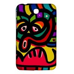 A Seamless Crazy Face Doodle Pattern Samsung Galaxy Tab 3 (7 ) P3200 Hardshell Case  by Amaryn4rt
