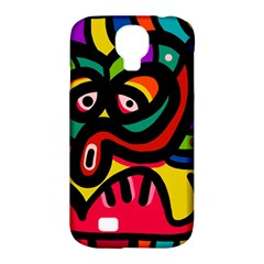 A Seamless Crazy Face Doodle Pattern Samsung Galaxy S4 Classic Hardshell Case (pc+silicone) by Amaryn4rt