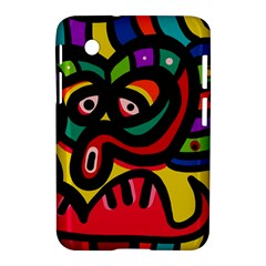 A Seamless Crazy Face Doodle Pattern Samsung Galaxy Tab 2 (7 ) P3100 Hardshell Case  by Amaryn4rt
