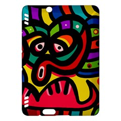 A Seamless Crazy Face Doodle Pattern Kindle Fire Hdx Hardshell Case by Amaryn4rt