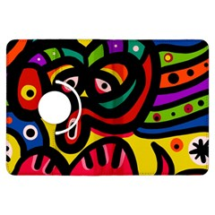 A Seamless Crazy Face Doodle Pattern Kindle Fire Hdx Flip 360 Case by Amaryn4rt